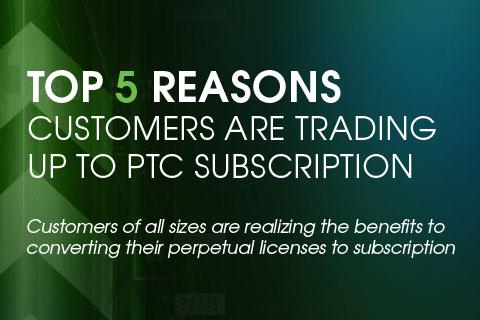 Topp 5 anledningar till att byta upp till PTC Subscription